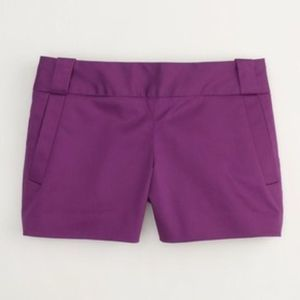 J crew carson purple shorts